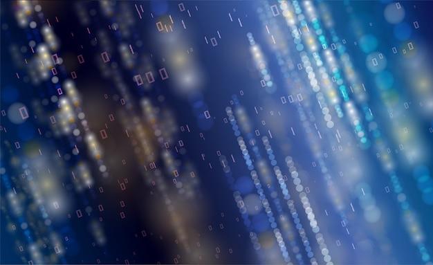 Streszczenie Technologia Tło Cząstek Premium Wektorów
