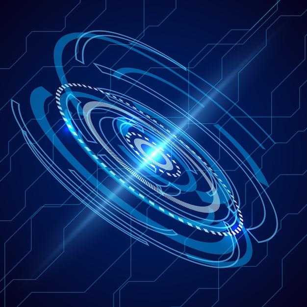 Streszczenie Telekomunikacja Elektryczna. Tło Science-fiction Techno. Cyfrowa Komunikacja Elektroniczna, Futurystyczny System Energii. Darmowych Wektorów
