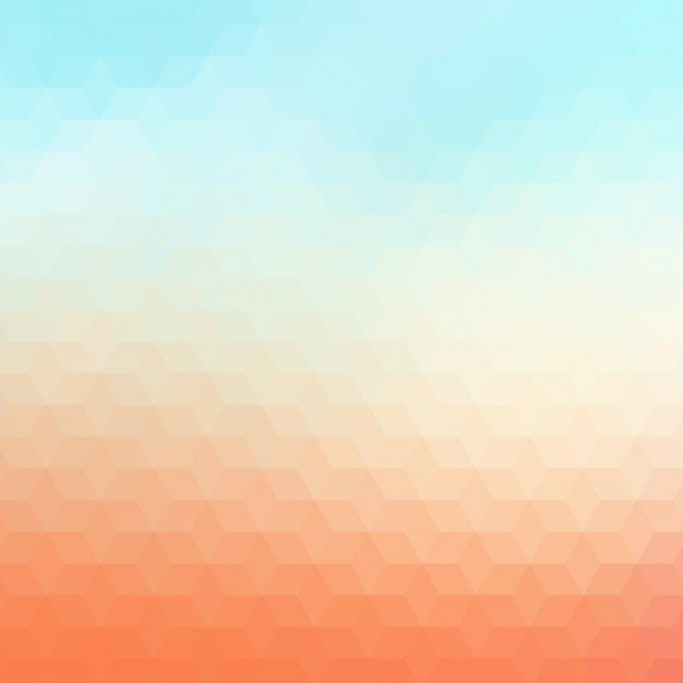 Streszczenie Tle Geometrycznych W Kolorze Pomarańczowym I Jasnych Odcieniach Błękitu Darmowych Wektorów