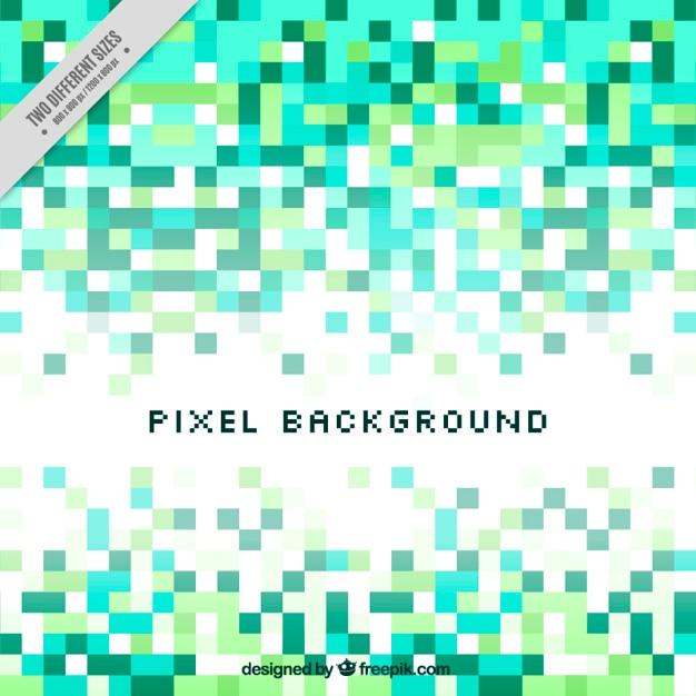Streszczenie Tle Zielonej Kolorystyce Pikseli Darmowych Wektorów