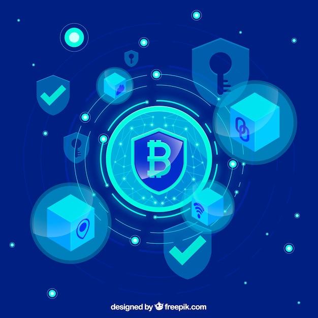 Streszczenie tło blockchain Darmowych Wektorów