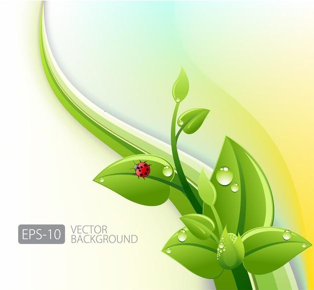 Streszczenie Tło Ekologii Premium Wektorów
