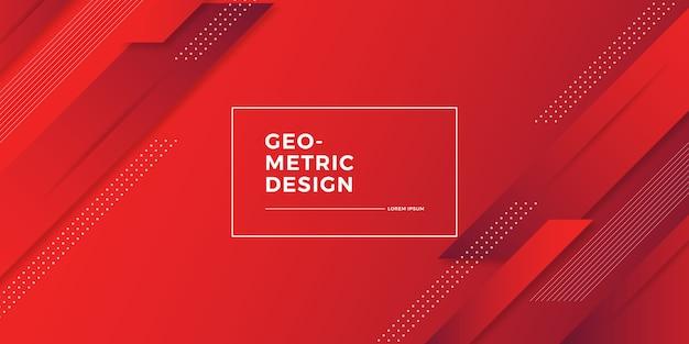 Streszczenie tło geometryczne gradientu Premium Wektorów