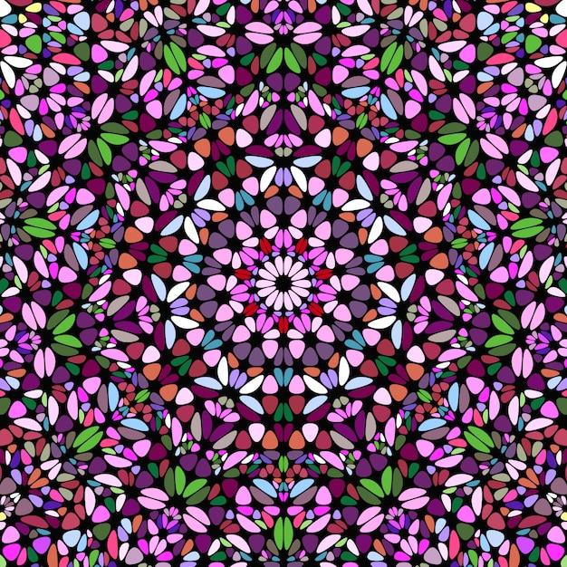 Streszczenie Tło Geometryczne Mozaiki Okrągłe Kwiatowy Premium Wektorów