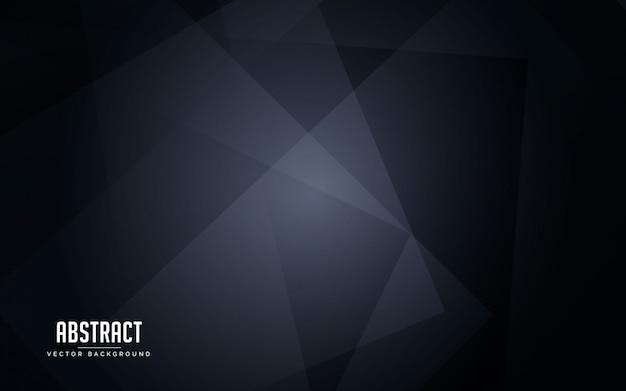 Streszczenie tło geometryczny kolor czarny i szary Premium Wektorów