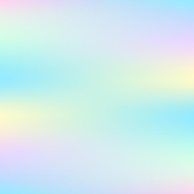 Streszczenie Tło Holograficzne W Pastelowych Kolorach Premium Wektorów
