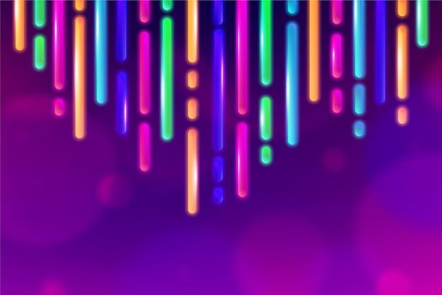Streszczenie Tło światła Neonowe Darmowych Wektorów