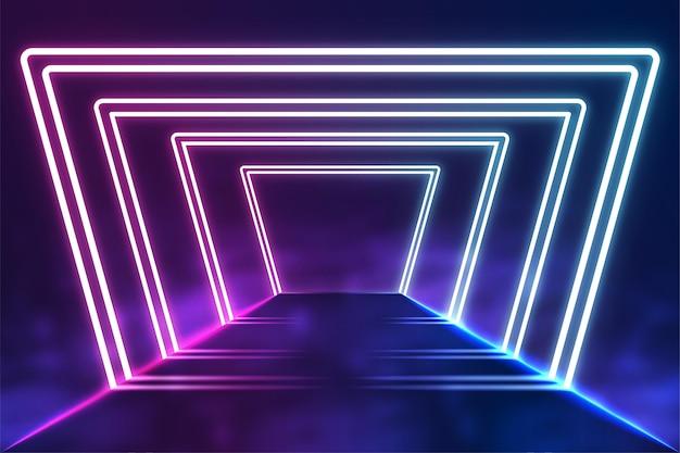 Streszczenie Tło światła Neonowe Premium Wektorów