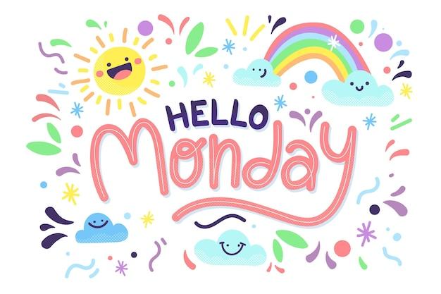 Streszczenie Tło Szczęśliwy Poniedziałek Darmowych Wektorów