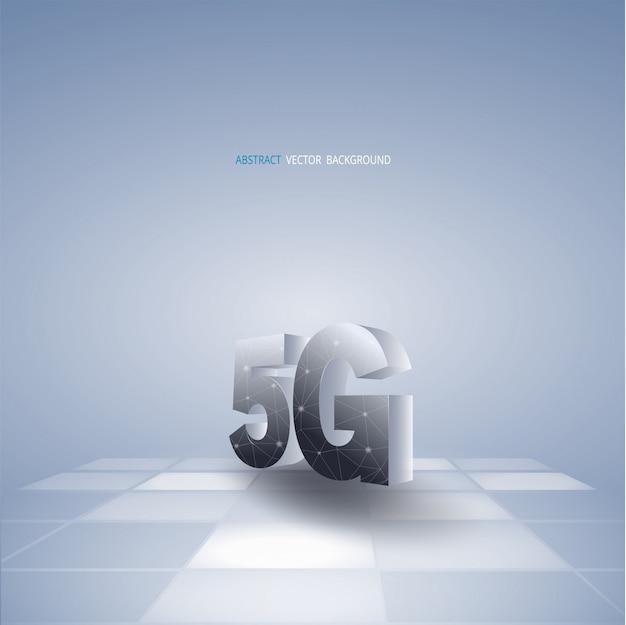 Streszczenie tło wektor z komunikacji 5g Premium Wektorów