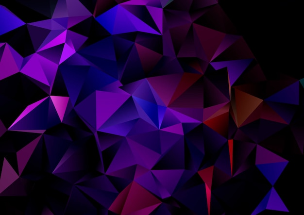 Streszczenie Tło Z Ciemnym Wzorem Geometrycznym Low Poly Darmowych Wektorów