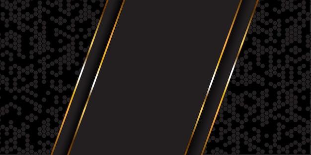 Streszczenie Transparent W Kolorze Złotym I Czarnym Darmowych Wektorów