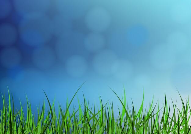 Streszczenie trawa tło wektor Premium Wektorów