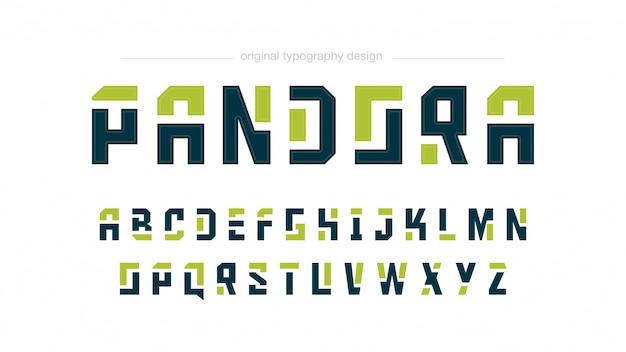 Streszczenie Typografii Zielone Kształty Premium Wektorów