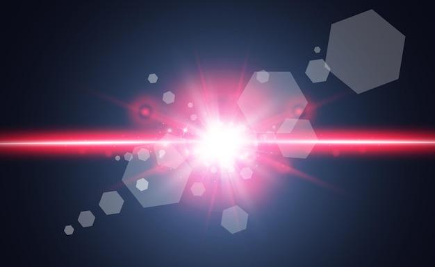 Streszczenie Wiązki Lasera. Premium Wektorów