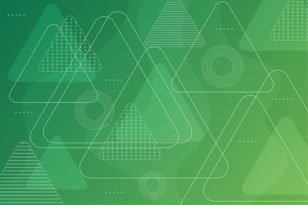 Streszczenie zielone tło geometryczne Darmowych Wektorów