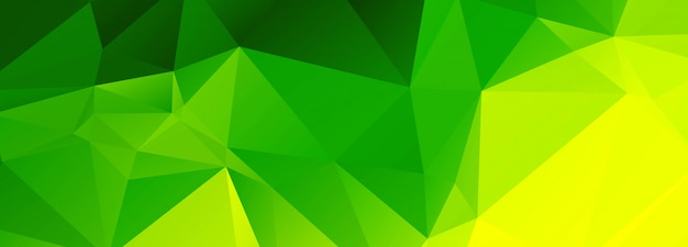 Streszczenie Zielone Tło Wielokąta Darmowych Wektorów