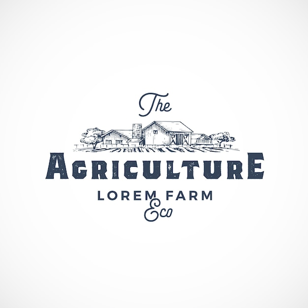 Streszczenie Znak Gospodarstwa Rolnego, Symbol Lub Szablon Logo. Darmowych Wektorów