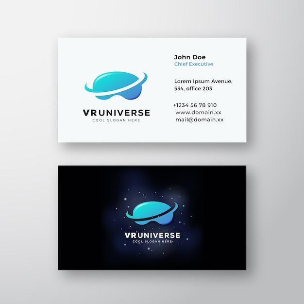 Streszczenie Znak Wirtualnej Rzeczywistości Wszechświata Lub Logo Darmowych Wektorów