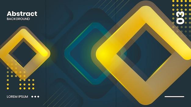 Streszczenie żółtym tle Premium Wektorów