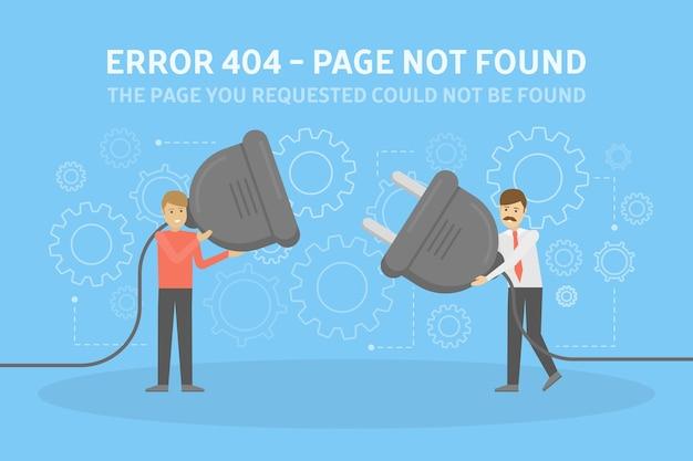 Strona Błędu Nie Została Znaleziona Premium Wektorów