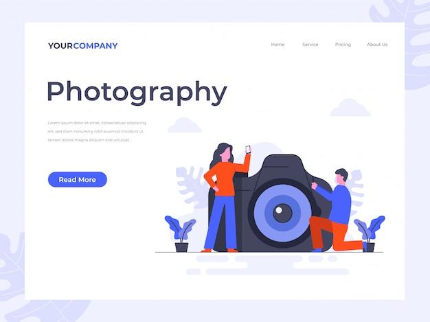 Strona Docelowa Aparatu I Fotografii Premium Wektorów