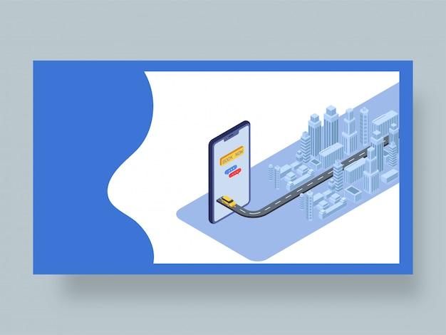 Strona Docelowa Aplikacji Rezerwacji Kabin Online. Premium Wektorów