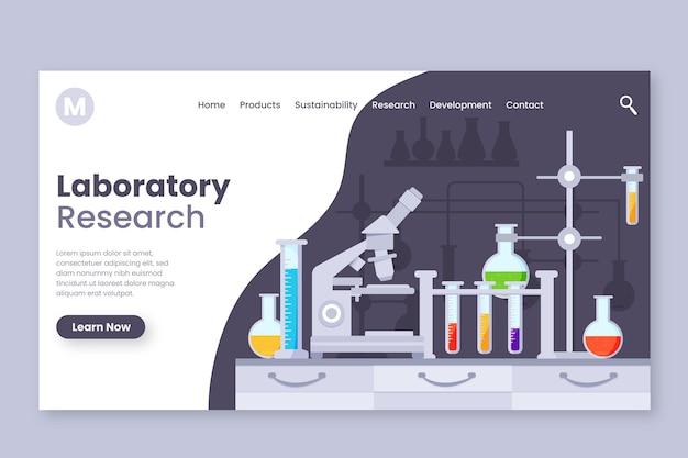 Strona Docelowa Badań Naukowych Premium Wektorów