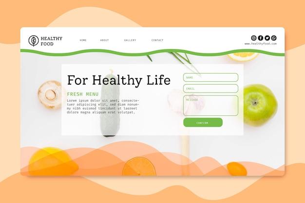 Strona Docelowa Bio I Zdrowej żywności Darmowych Wektorów