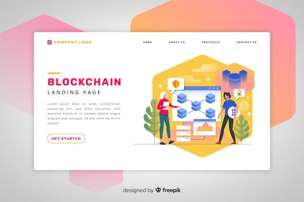 Strona Docelowa Blockchain Darmowych Wektorów