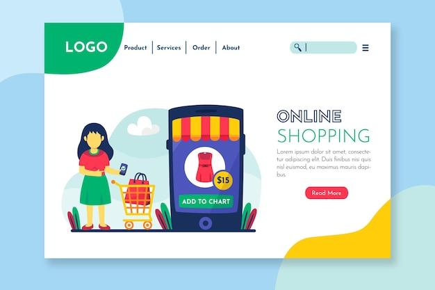 Strona Docelowa Dla Sklepów I Produktów Online Darmowych Wektorów