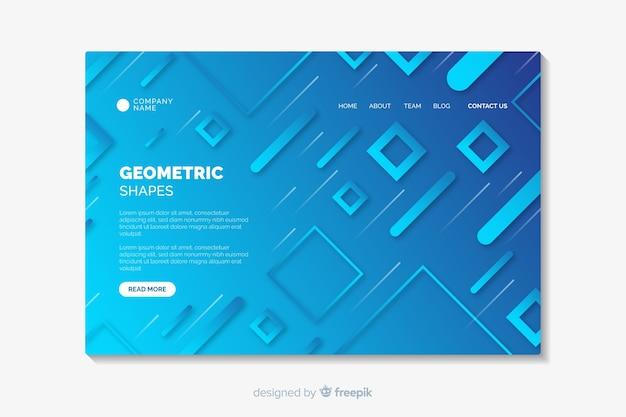 Strona docelowa gradientowe kształty geometryczne Darmowych Wektorów