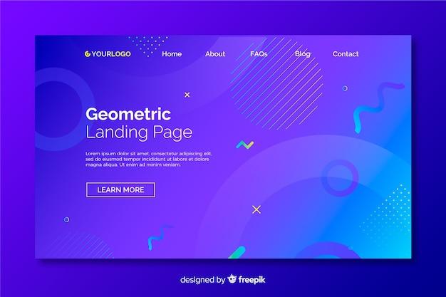 Strona Docelowa Gradientowych Modeli Geometrycznych Premium Wektorów