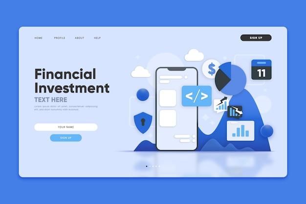 Strona Docelowa Inwestycji Finansowych Darmowych Wektorów