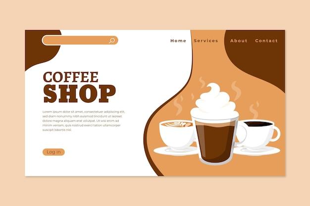 Strona Docelowa Kawiarni Darmowych Wektorów