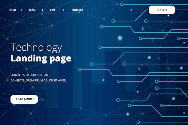 Strona docelowa koncepcji technologii Darmowych Wektorów