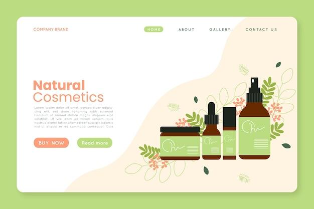 Strona Docelowa Kosmetyków Przyrodniczych Premium Wektorów