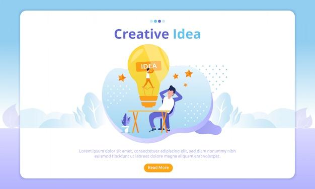 Strona docelowa kreatywnych pomysłów Premium Wektorów