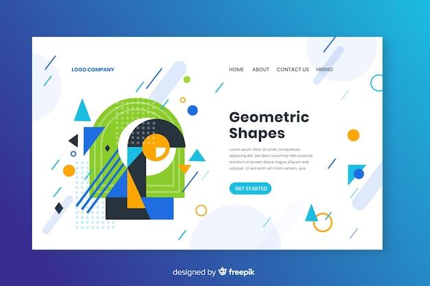 Strona docelowa kształtów geometrycznych Darmowych Wektorów