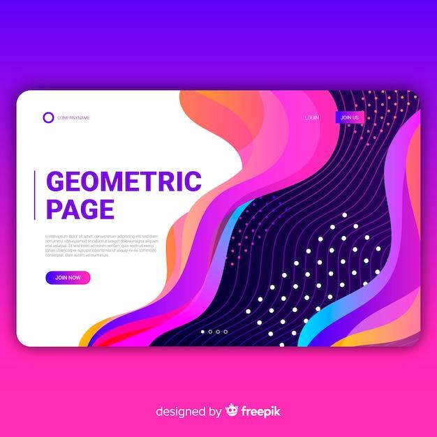 Strona docelowa kształtów gradientu geometrycznego Darmowych Wektorów