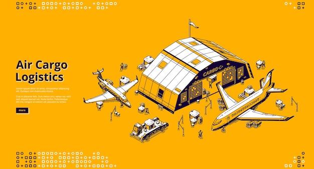 Strona Docelowa Logistyki ładunków Lotniczych Darmowych Wektorów