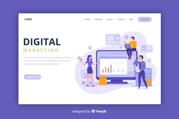 Strona docelowa marketingu cyfrowego Darmowych Wektorów