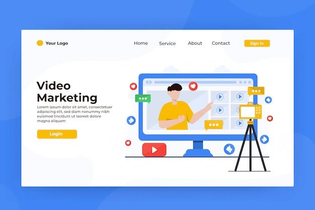 Strona Docelowa Marketingu Internetowego Premium Wektorów