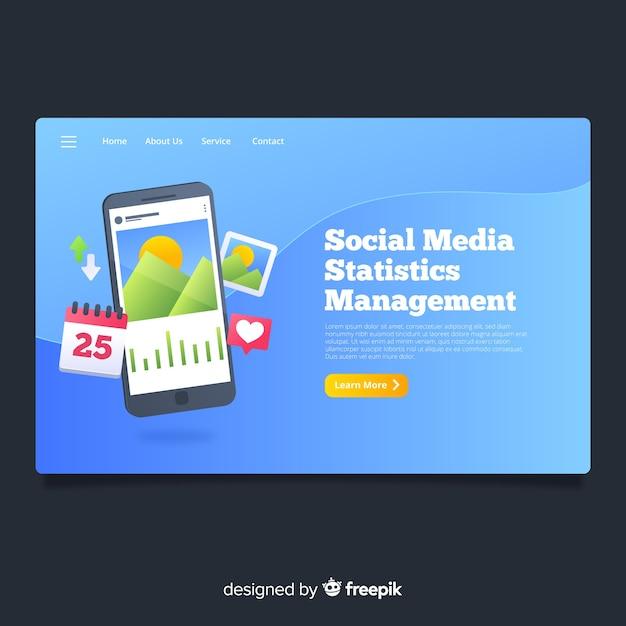 Strona docelowa mediów społecznościowych Darmowych Wektorów