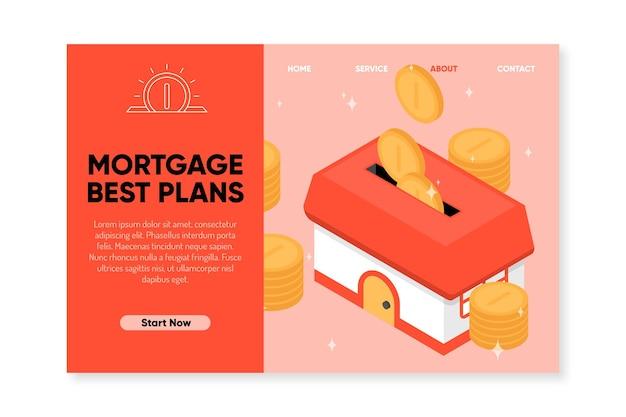 Strona Docelowa Najlepszych Planów Hipotecznych Darmowych Wektorów