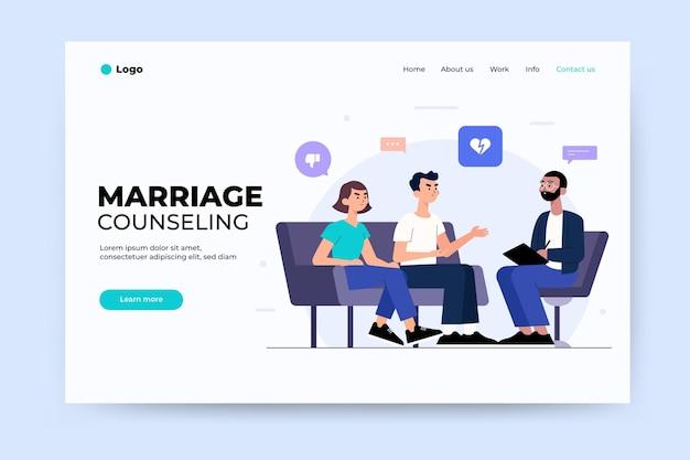 Strona Docelowa Poradnictwa Małżeńskiego Darmowych Wektorów