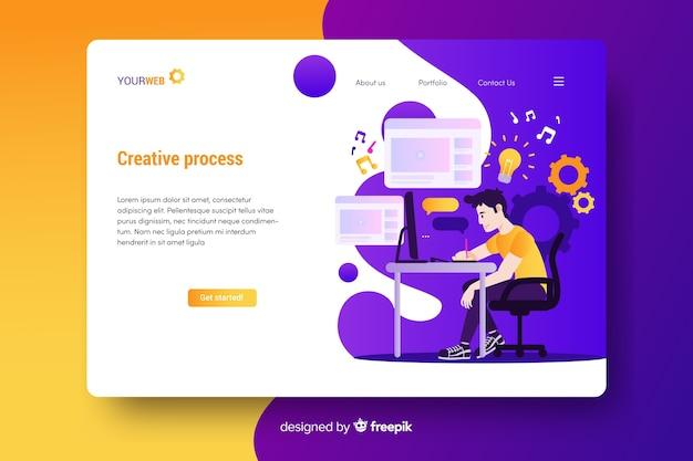 Strona docelowa procesu twórczego Darmowych Wektorów