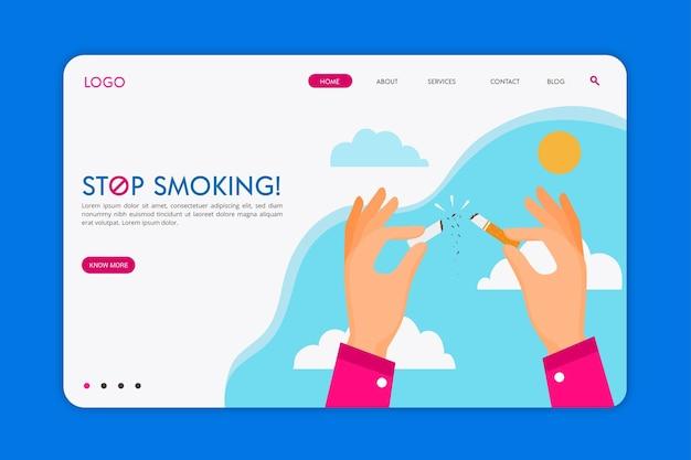 Strona Docelowa Rzucenia Palenia Darmowych Wektorów