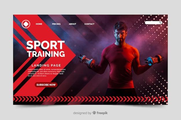 Strona Docelowa Siłowni Sportowej Darmowych Wektorów