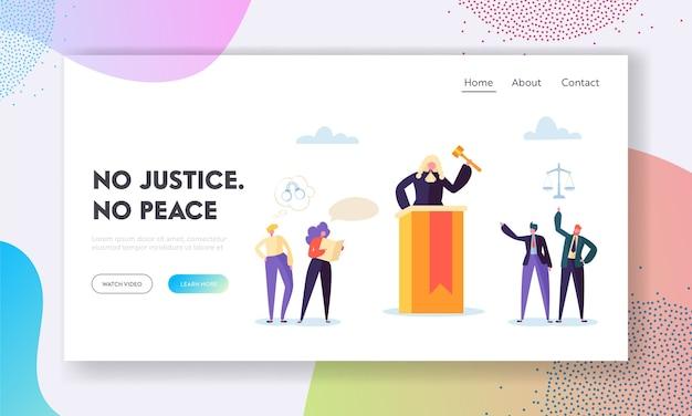 """Strona Docelowa """"sprawiedliwość To Pokój"""". Premium Wektorów"""